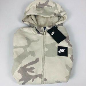 Nike Camo Full Zip Hoodie Kids NWT